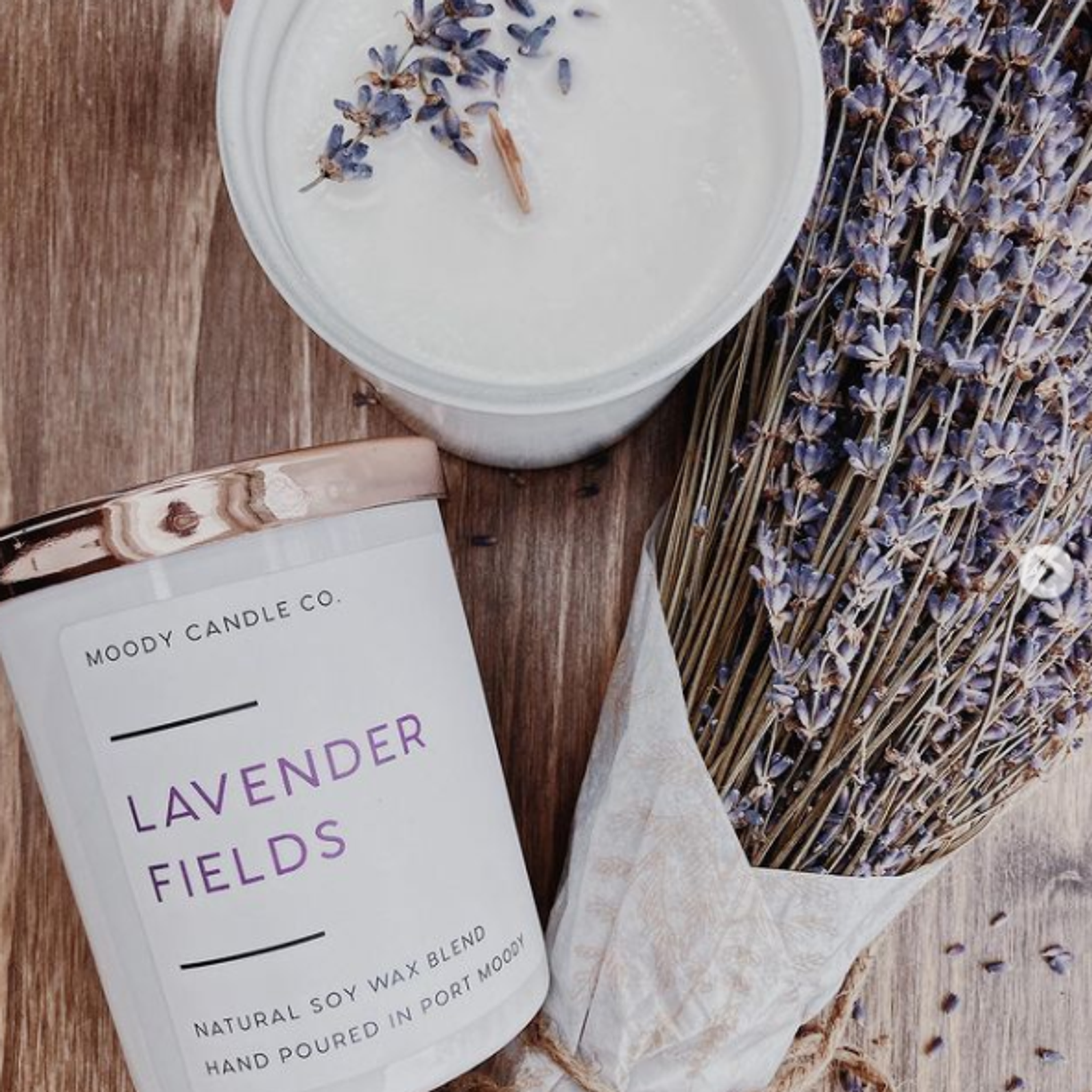 Moody Candle Co. Jar 9 oz Lavender Fields