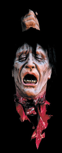 Severed Head Decapitated Fresh Bloody Illusion Halloween Prop