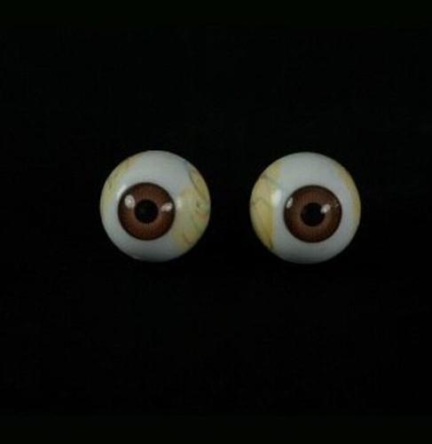 Pair of Brown Eyeballs Halloween Prop