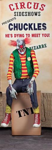 Chuckles Clown Halloween Animated Prop