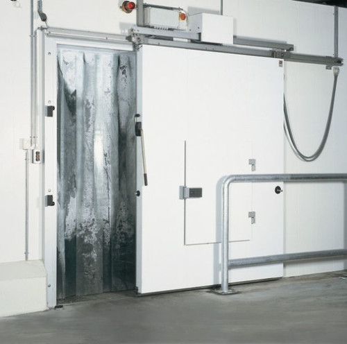 Freezer Strip Door Cooler Curtains Fits 3'x7' Opening 4-W