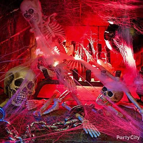 Red halloween Fluorescent Light Bulb