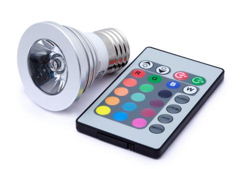 Remote Control Rainbow Multi-Color Lightbulb w/ Remote