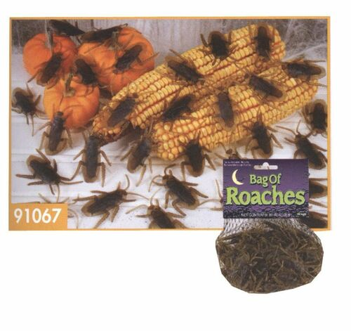 Rubber Cockroaches - 80 pieces of Adult Roaches