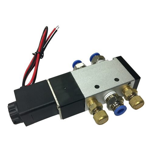 "4-Way Solenoid Valve 1/4"" With All Fittings"