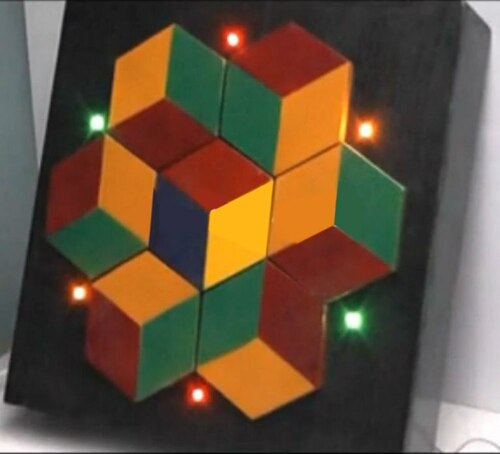 7-Piece Color Cube Puzzle - Escape Room Prop