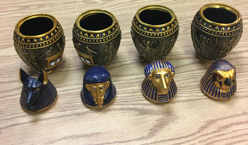 4 Egyptian-Themed Canopic Jars (w/ Sensors)  - Escape Room Prop