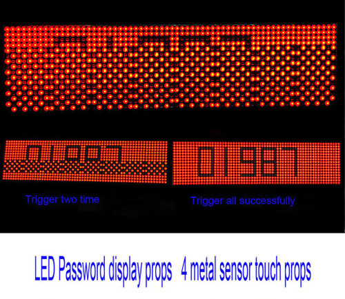 4 Metal Sensors and LED Password Display (w/ Audio) - Escape Room Prop