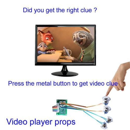 4-Button Video Clue Player Escape Room Prop