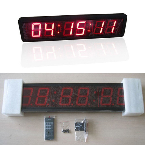 Large Display LED Digital Countdown Clock (w/ Wireless Remote) - Escape Room Prop