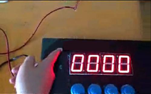 4-Button LED Password Display Panel (w/ Mini Key) - Escape Room Prop
