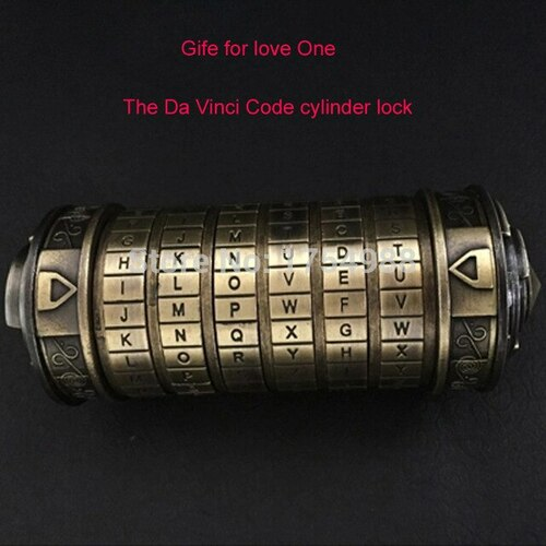 6-Dial Da Vinci Code Alphabet Lock Chamber (w/ Magic Rings) - Escape Room Prop