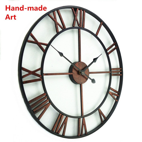 Large 3D Handmade Vintage Wrought-Iron Wall Clock - Escape Room Prop