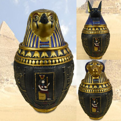 Egyptian-Themed Canopic Jar - Escape Room Prop