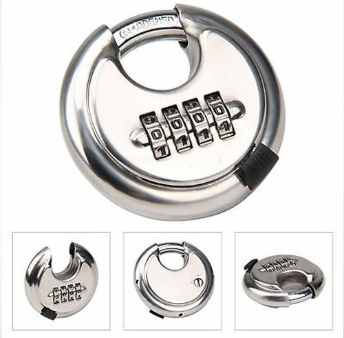 4-Dial Number Combination Padlock (Stainless Steel) - Escape Room Prop