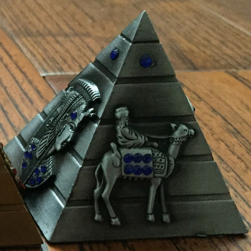 Egyptian-Themed Decorative Pyramid - Escape Room Prop