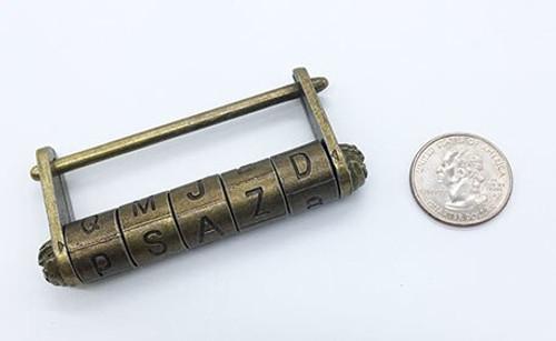 Letter Combo Lock - Antique Copper