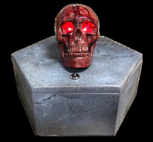 Copper Skull Coin Box Escape Room Prop