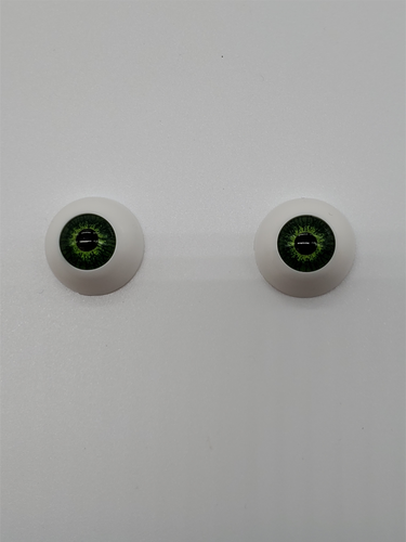 Pair of Green Eyes- 2 cm- Replacement Eyeballs