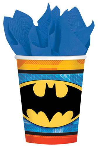 BATMAN CUPS 9 OZ 8 PK