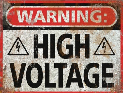 High Voltage Sign - Halloween Decor Prop Road and Lawn Decoration Sticker