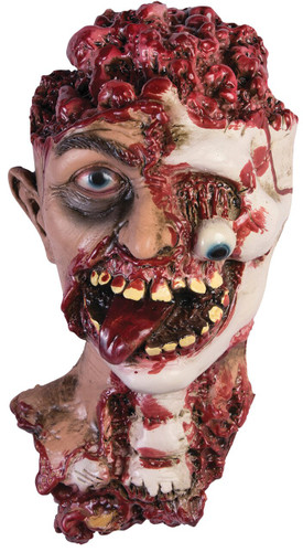 ROTTED ZOMBIE HEAD PROP