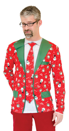 UGLY CHRISTMAS SUIT TIE XL