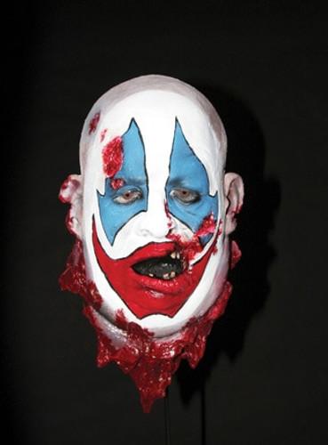 Clown Head Halloween Prop