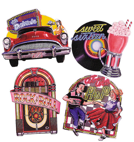 50S CUTOUTS PACK OF 4 16 INCH
