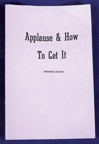 APPLAUSE AND HOW TO GET IT