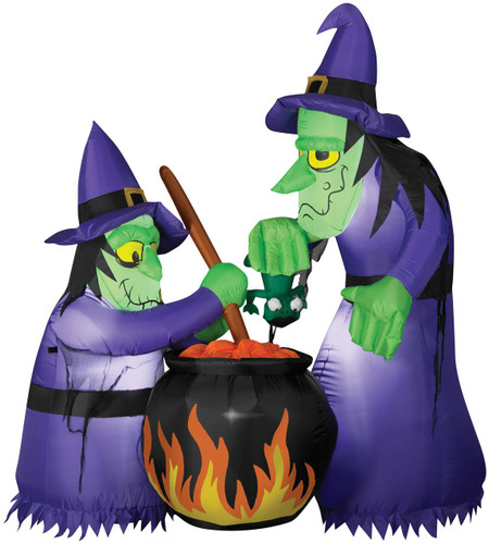 AIRBLOWN DOUBLE WITCH CAULDRON