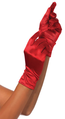 GLOVES RED WRIST LENGTH