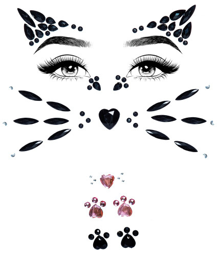 ANIMAL ADHESIVE FACE JEWELS S.