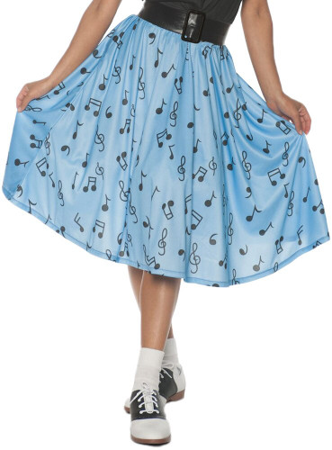 50'S MUSICAL NOTE SKIRT AD XL