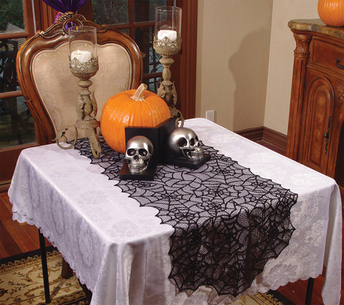 LACE SPIDER WEB TABLE RUNNER