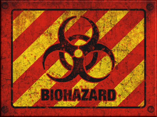 Biohazard Sign - Halloween Decor Prop Road and Lawn Decoration Sticker