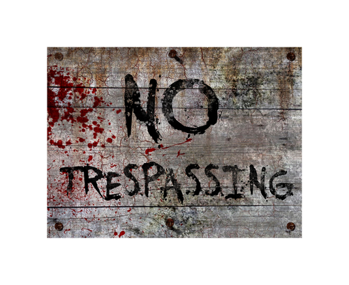 No Trespassing - Halloween Decor Prop Road and Lawn Decoration Sign