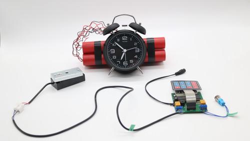 Digital Bomb with Clock Escape Room Prop