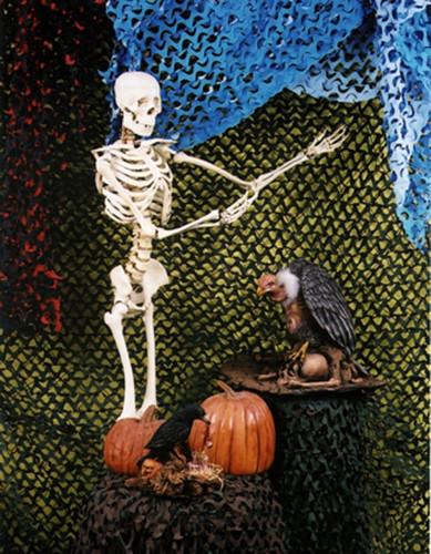 Camo Crazy (8x10 Feet - Black Orange) Halloween Decoration Decor Cloth