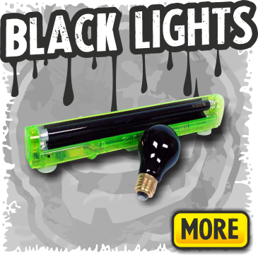 Blacklights & UV Lighting for Halloween and Haunted Houses