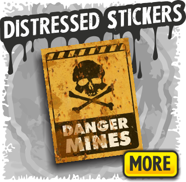 Warning Signs & Caution Stickers for Halloween Decor