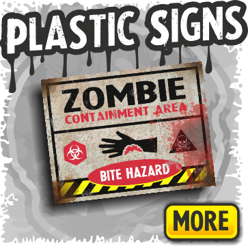 Plastic Halloween Yard Signs & Decorations