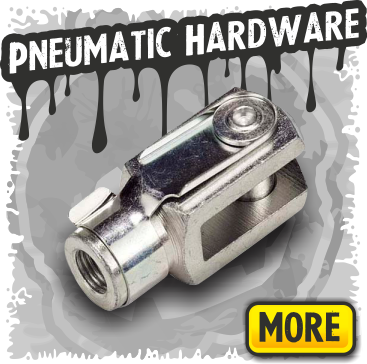 Pneumatic hardware, mechanical connectors, mounting brackets.