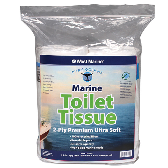 Pure Oceans Marine 2-Ply Toilet Tissue 4-Pack