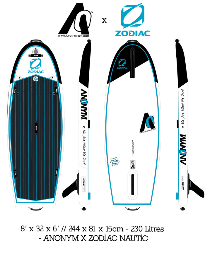 Zodiac Inflatable Stand Up Paddleboard - 8' Pocket