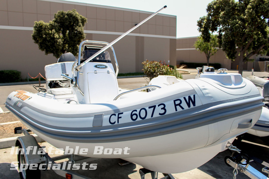 Please Note: Boat is shown with optional VHF Radio & Antenna, Boat Name & CF Lettering Package, Garmin GPS Unit, and Fuel Gauge