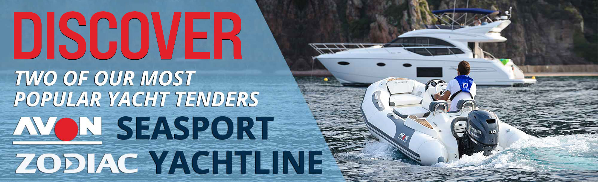 Avon Inflatable yacht tenders and luxury dinghies available for sale at the Boat Specialists