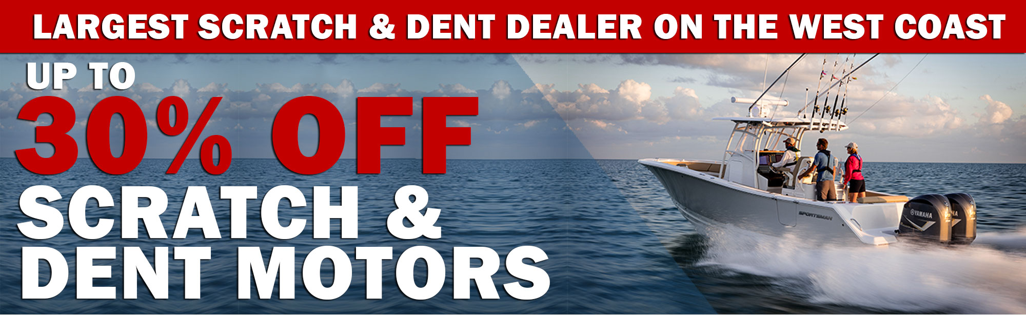 Up to 30% off Blemished Outboards