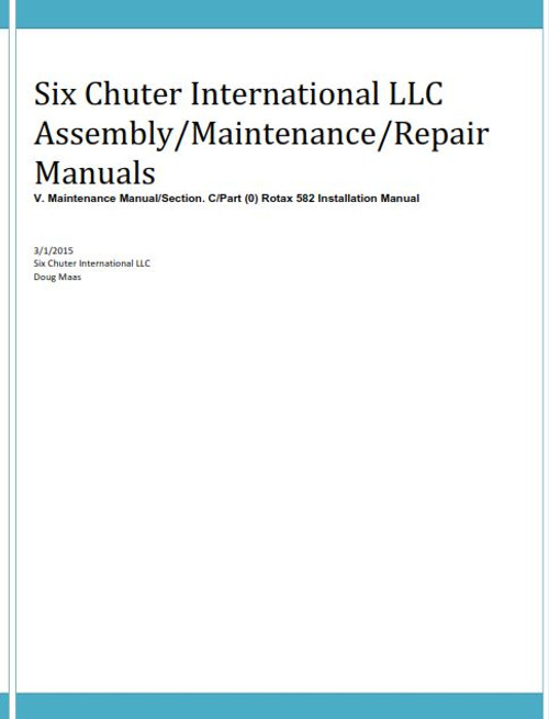 H-Rotax 582 Installation Manual (Download)