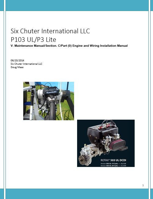 H-Rotax 503/Kawasaki 440 Engine Install and Wiring (Download)